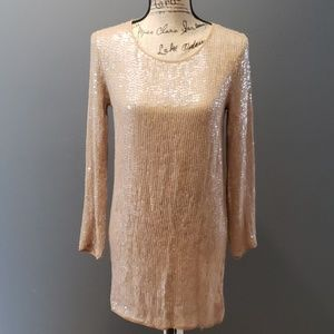 fe9f1702a03b7 Haute Hippie · Haute Hippie silk sequin long sleeve dress medium